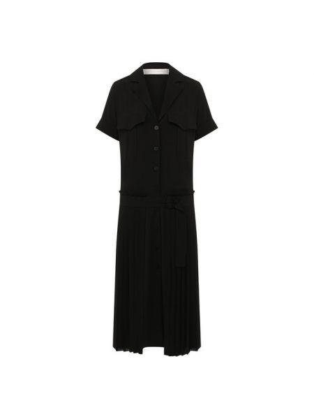 Платье миди с V-образным вырезом со складками Victoria, Victoria Beckham