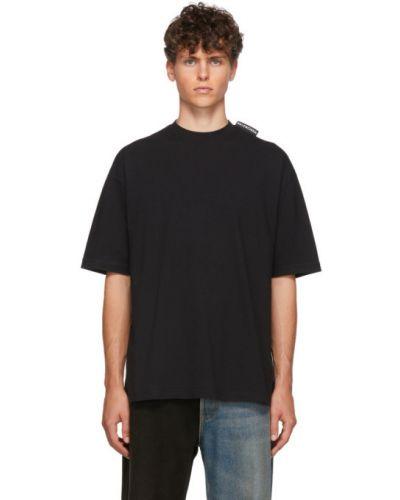Bawełna czarny koszula z krótkim rękawem z kołnierzem krótkie rękawy Balenciaga