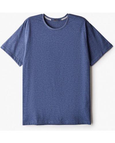 Синяя с рукавами футболка Fine Joyce