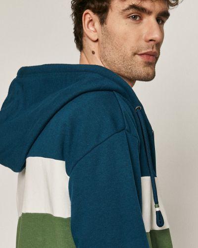 Zielona bluza z kapturem bawełniana Medicine