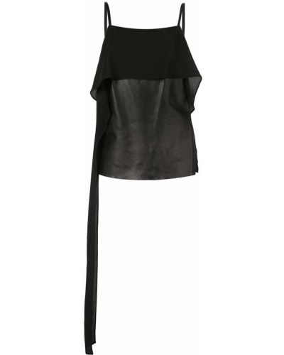 Топ кожаный халтер Helmut Lang