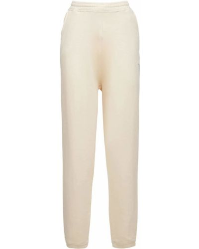 Бежевые махровые брюки Reebok Classics