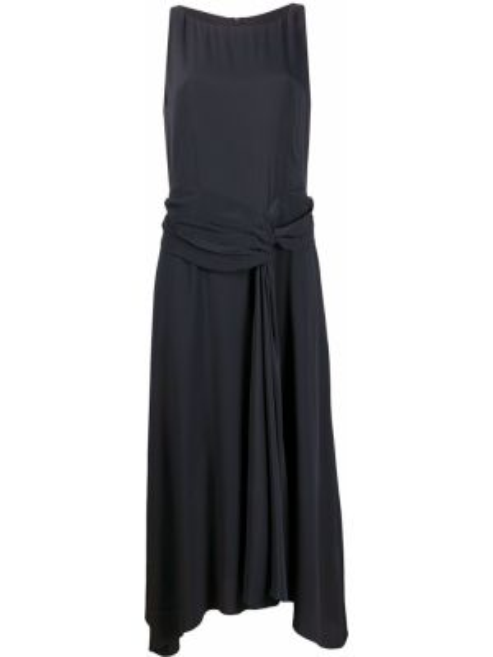 Шелковое платье миди - синее Luisa Cerano
