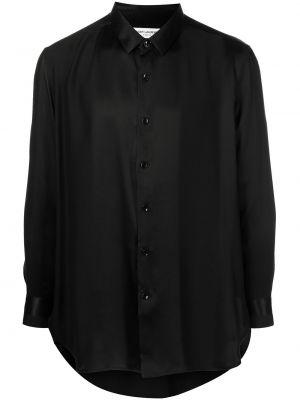 Koszula z jedwabiu - czarna Saint Laurent