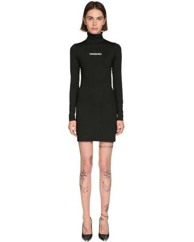 Платье мини макси с длинными рукавами Vetements