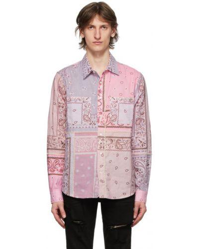 Koszula z długim rękawem fioletowy karmazynowy Amiri