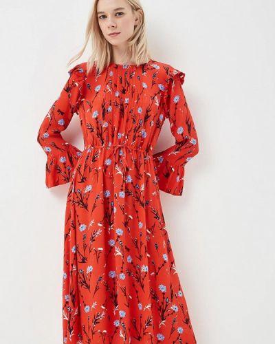 Джинсовое платье весеннее красный Tom Tailor Denim