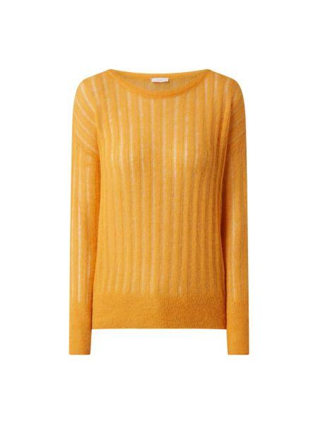 Prążkowany żółty sweter moherowy Riani