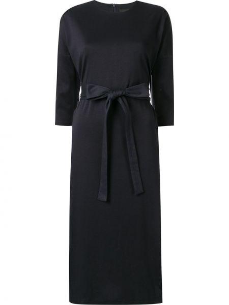 Темно-синее прямое платье миди Frei Ea