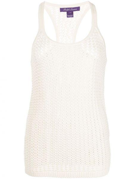 Biała kamizelka bez rękawów Ralph Lauren Collection