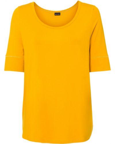 Желтая футболка свободного кроя Bonprix