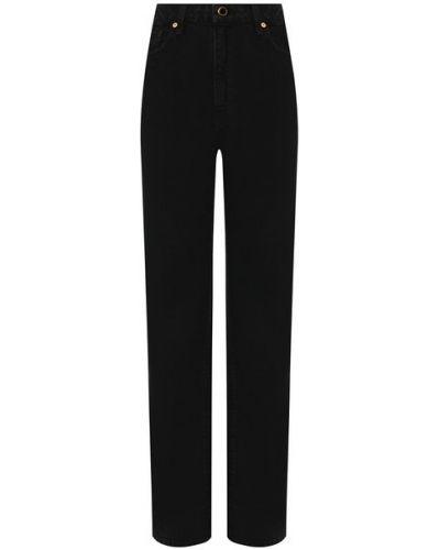 Хлопковые черные прямые джинсы Khaite
