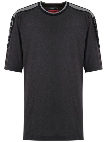 Koszula krótkie z krótkim rękawem z logo prosto Dolce And Gabbana
