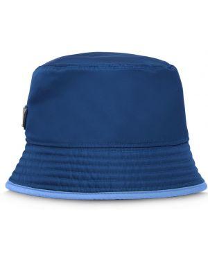 Niebieski kapelusz z nylonu Prada