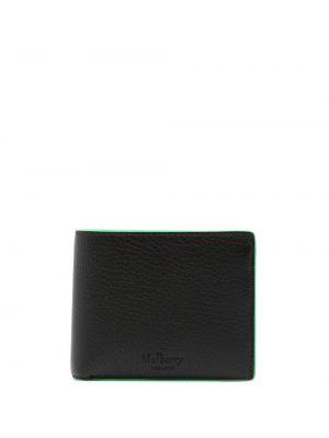 Czarny portfel na monety skórzany Mulberry