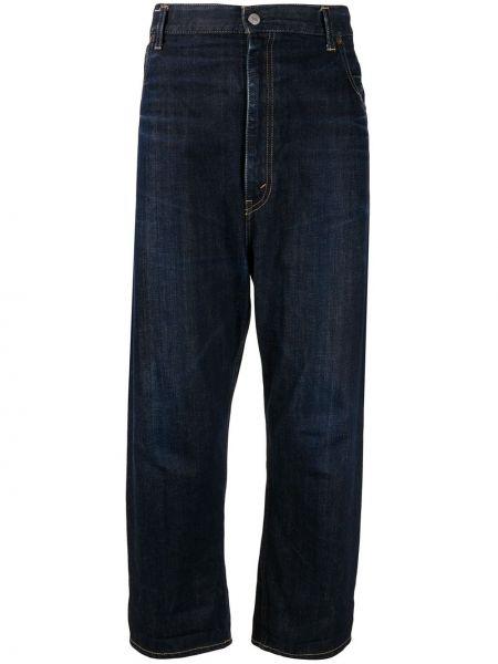 Расклешенные джинсы на пуговицах с карманами с рукавом 3/4 из вискозы Junya Watanabe Comme Des Garçons Pre-owned