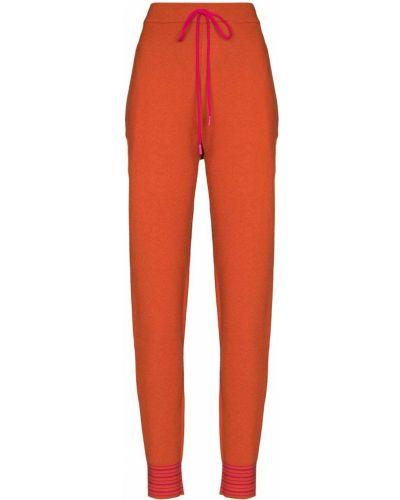 Pomarańczowe spodnie z nylonu Roksanda