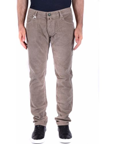 Szare spodnie w paski oversize Jacob Cohen