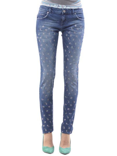 Хлопковые синие джинсы Blugirl