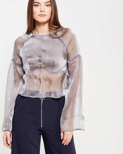 Блузка осенняя серебряного цвета Lost Ink.