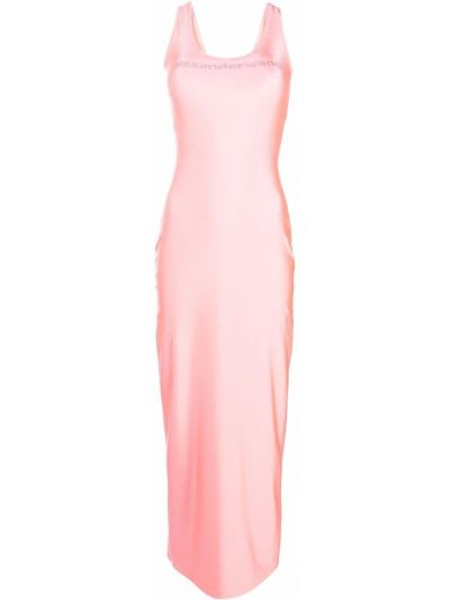 Sukienka długa bez rękawów - różowa Alexander Wang