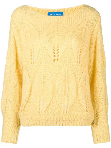 Шерстяной свитер - желтый Mih Jeans