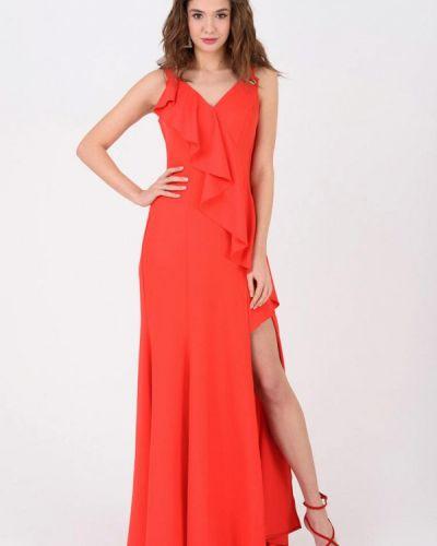 Вечернее платье весеннее красный Ricamare