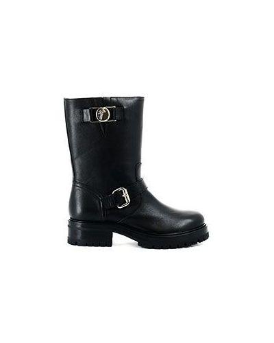 Кожаные сапоги черные Versace Collection