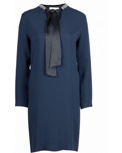 Платье шелковое с длинными рукавами Fabiana Filippi