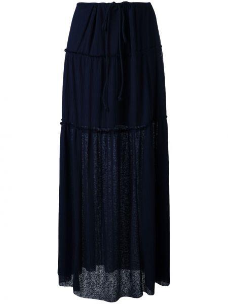 Плиссированная юбка макси синяя See By Chloe