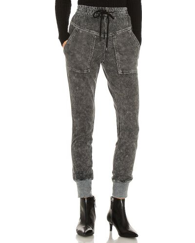 Шелковые черные брюки с карманами Central Park West
