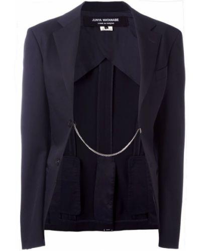 Синий удлиненный пиджак на пуговицах винтажный Junya Watanabe Comme Des Garçons Pre-owned