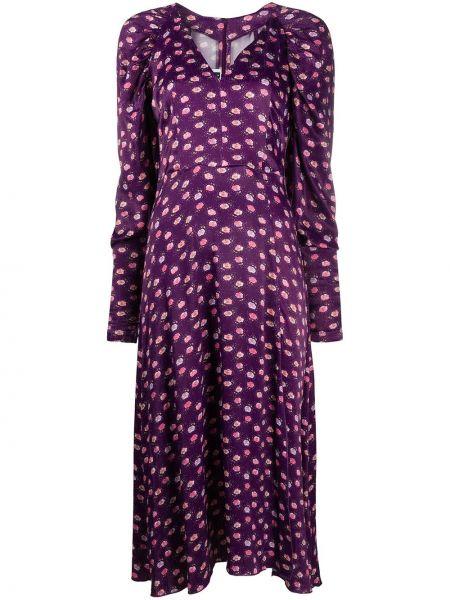Платье миди с V-образным вырезом фиолетовый Rotate