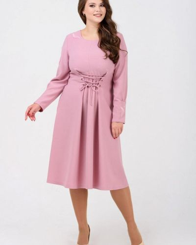 Повседневное платье весеннее розовое Ricamare
