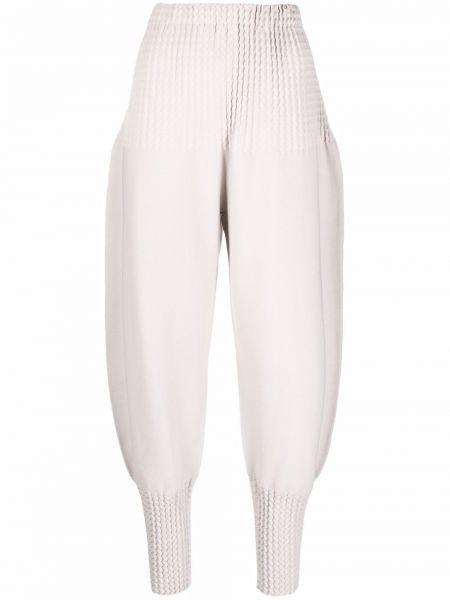 Spodnie bawełniane - beżowe Issey Miyake