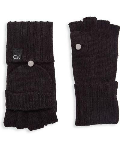 Rękawiczki bez palców - czarne Calvin Klein