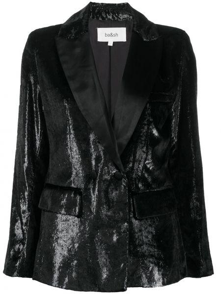 С рукавами черный удлиненный пиджак с карманами Ba&sh