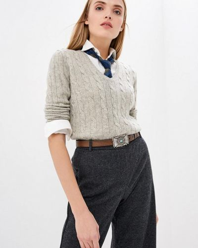 Серый пуловер Polo Ralph Lauren