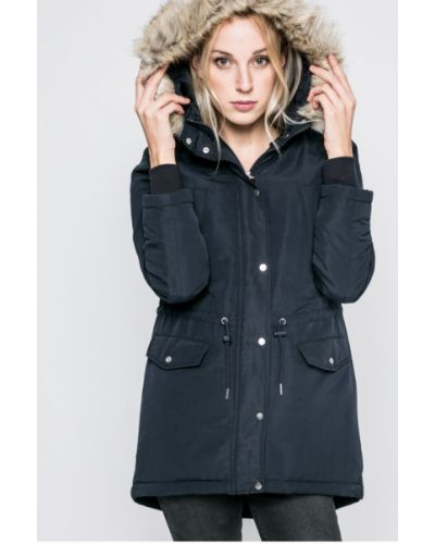 Утепленная куртка с капюшоном с мехом прямая Jacqueline De Yong
