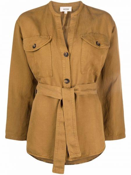 Коричневый пиджак на пуговицах Diega