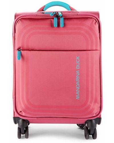 Różowa walizka kabinowa Mandarina Duck