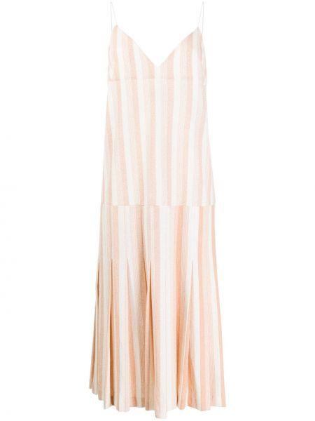 Платье миди с V-образным вырезом с рукавами Jil Sander