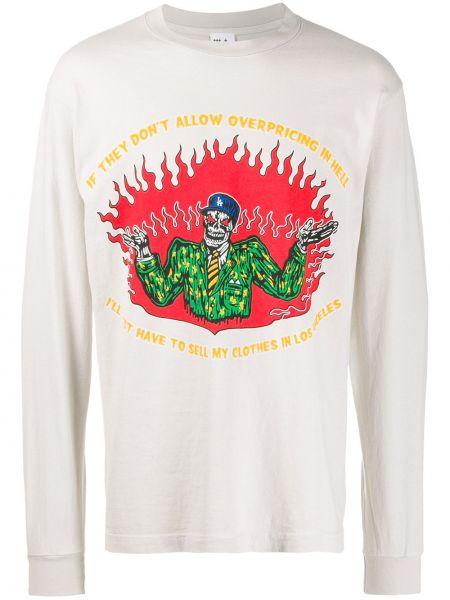 Bluza z długimi rękawami bawełniana z printem Warren Lotas