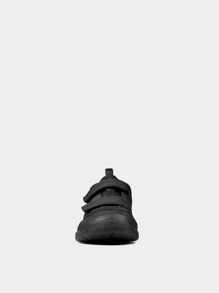 Кроссовки на липучках - черные Clarks
