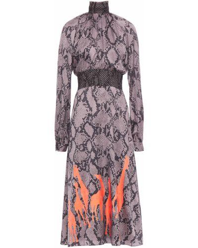 Серое платье с подкладкой из крепа Stella Jean