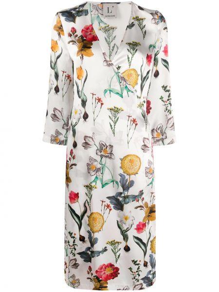 Платье с запахом с V-образным вырезом Lautre Chose
