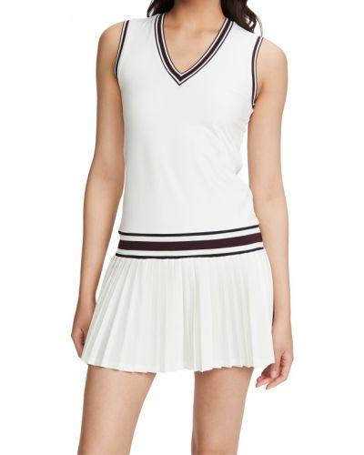 Трикотажное белое спортивное платье с подкладкой Tory Sport
