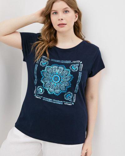 Синяя футболка с короткими рукавами Rosa Thea