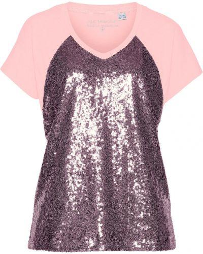 Блузка с пайетками розовая Bonprix