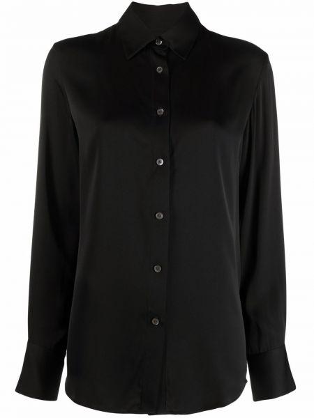 Koszula z jedwabiu - czarna Filippa K